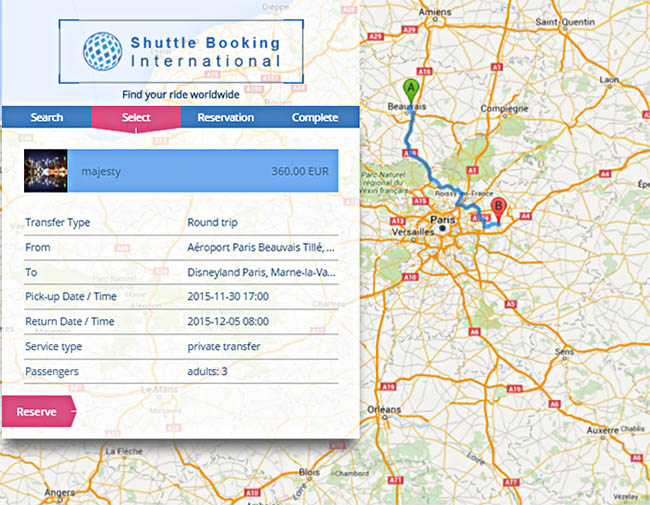 Your offers are now available via the S.B.I. route search engine