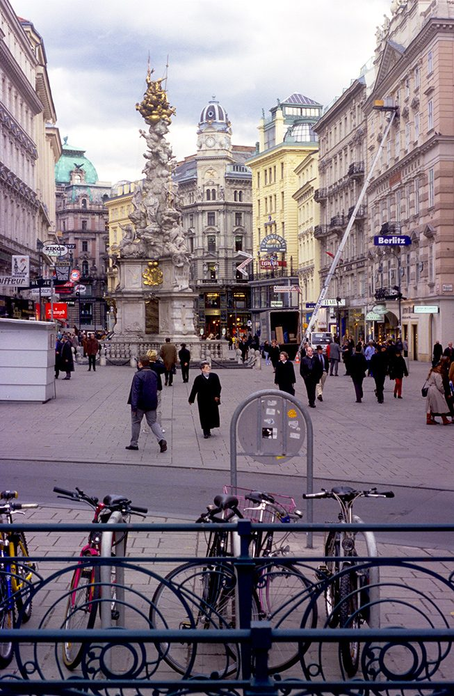 The Graben shopping district in Vienna's city center.